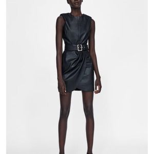 Leather min dress. I accept offers